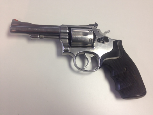 Smith & Wesson Model 67 stainless 38 caliber revolver