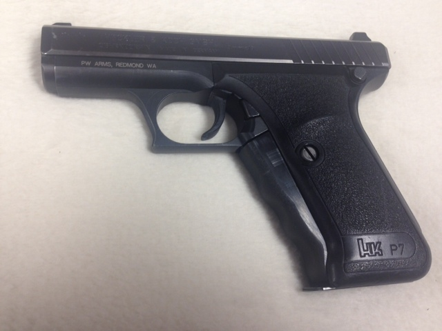 H & K P 7 9mm squeeze cock rare